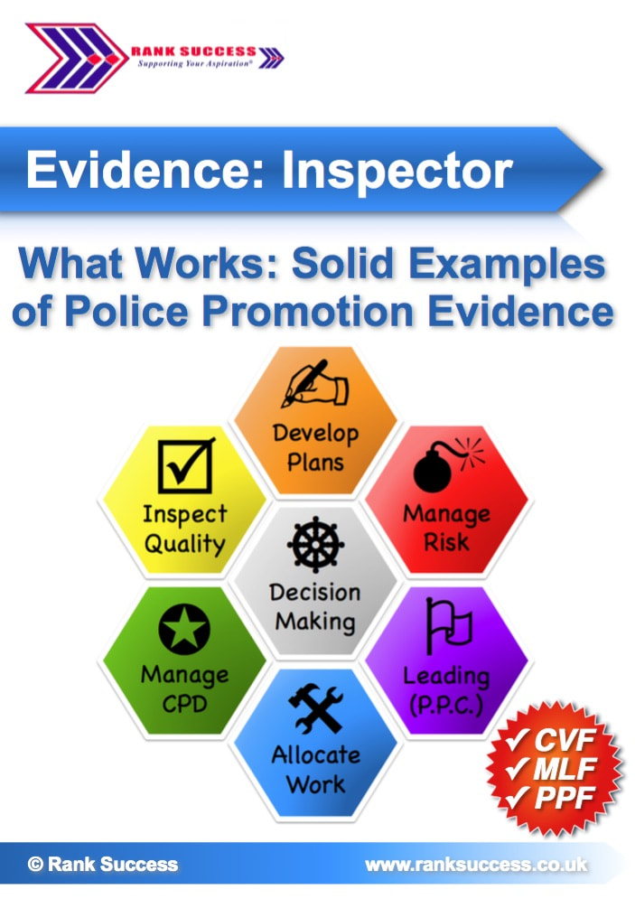 Examples of UK police promotion evidence
