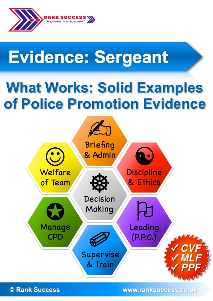 Police promotion examples